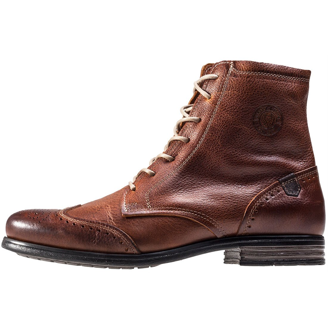 Sneaky Mens Steve Mens Sneaky Meadows Leather Boots Cognac 3e2e17
