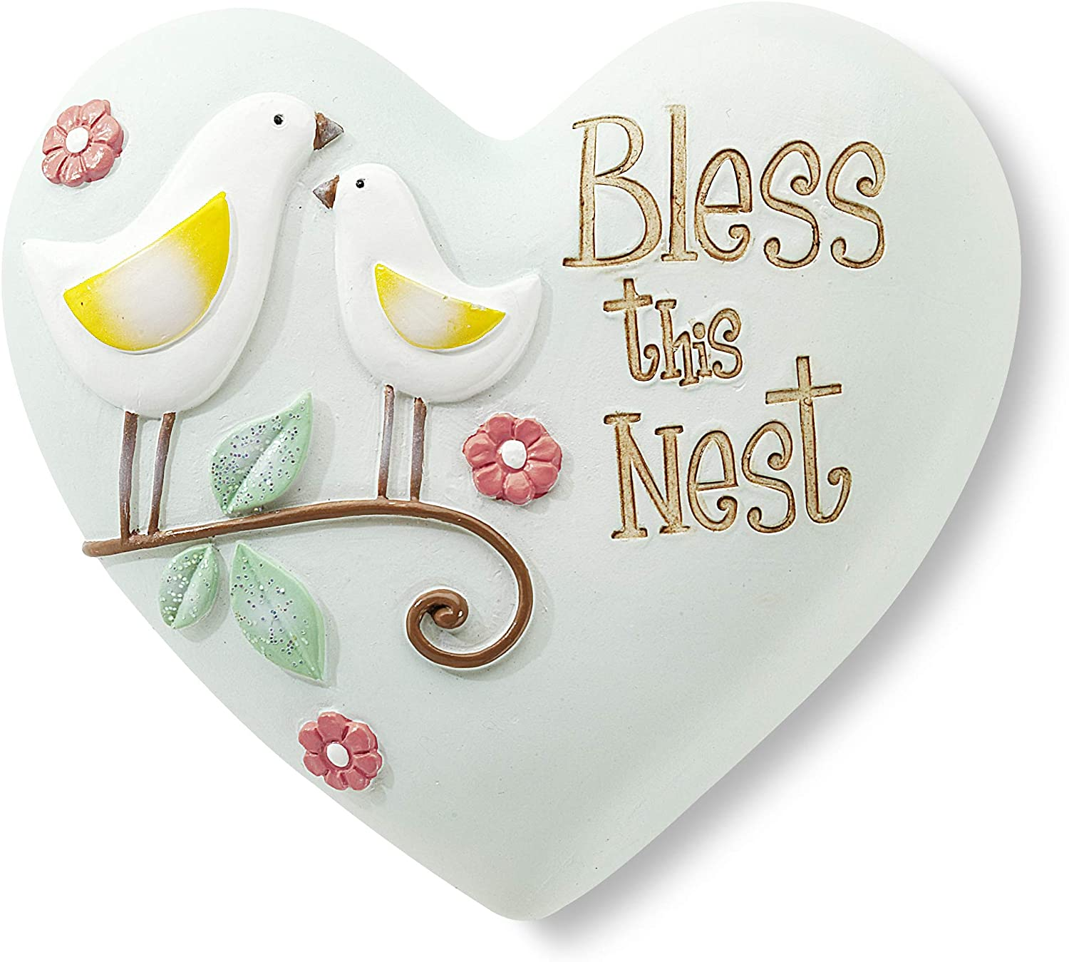 Heart Expressions by Pavilion Inspirational Heart, Bless This Nest, 2-1/2-Inch