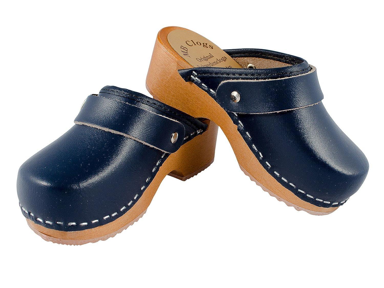 Enfants sabots talon bleu sangle de la marine: Amazon.fr: Chaussures et Sacs