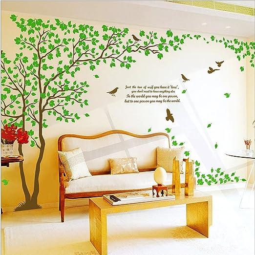40 opinioni per Colorfulworld® Adesivo da parete, 170 cm (altezza), con albero, verde
