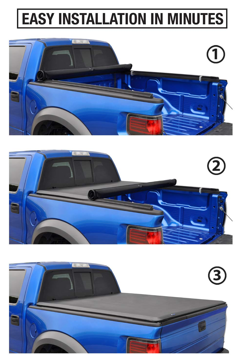 for Models Without Utility Track System Fleetside 5.8 Bed Tyger Auto TG-BC1C9006 TOPRO Roll /& Lock Truck Bed Tonneau Cover 2014-2018 Chevy Silverado//GMC Sierra 1500