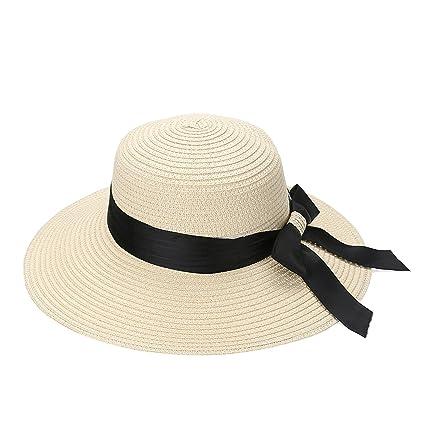 c7b7dff17 Amazon.com: Flat Sun Hat Summer Women European Casual Fashion ...