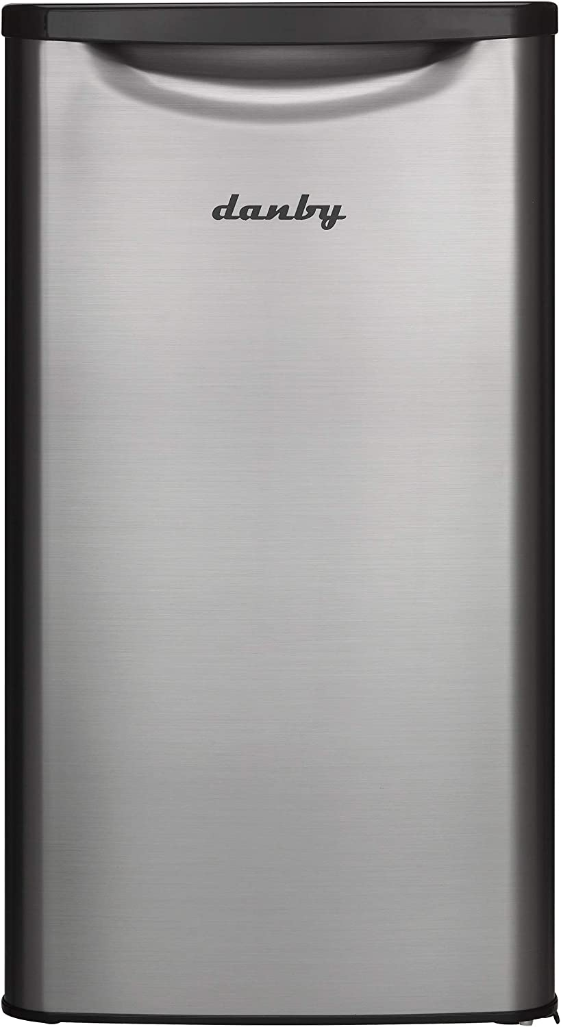 Danby DAR033A6BSLDB-6 Contemporary Classic Mini Fridge - 3.3 Cubic Foot - Stainless Look