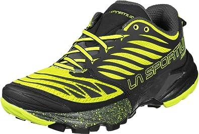 La Sportiva Akasha, Zapatillas de Trail Running Unisex Adulto, Multicolor (Black/Sulphur 000), 38.5 EU: Amazon.es: Zapatos y complementos