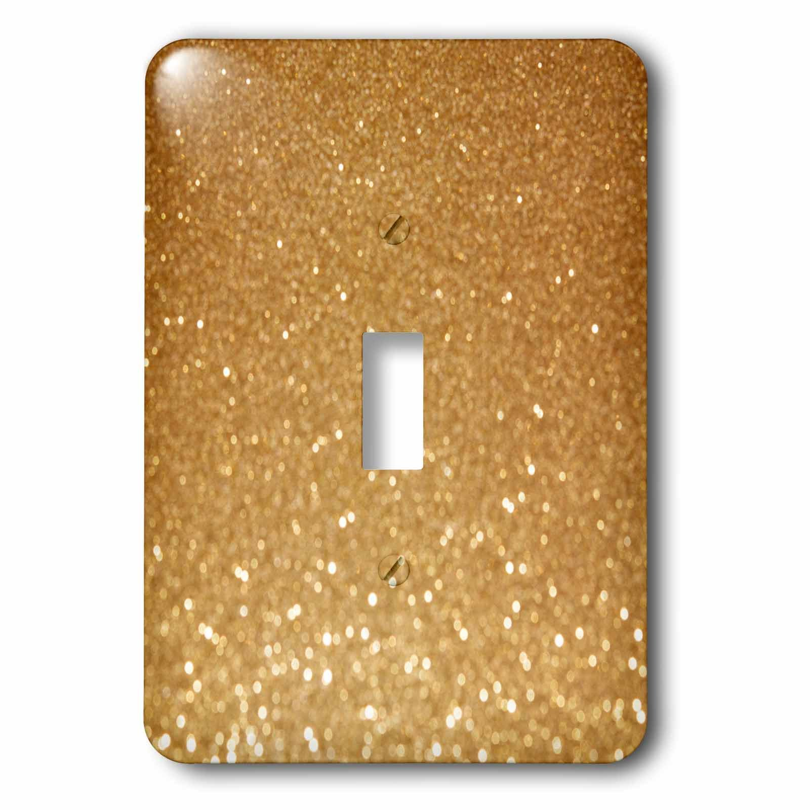 3dRose lsp_266206_1 Golden Glitter Sparkly Glimmer Glamour Shine Luxury Toggle Switch, Mixed