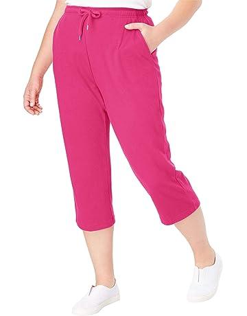 ca4823ad5e5 Woman Within Women s Plus Size Sport Knit Capri Pant