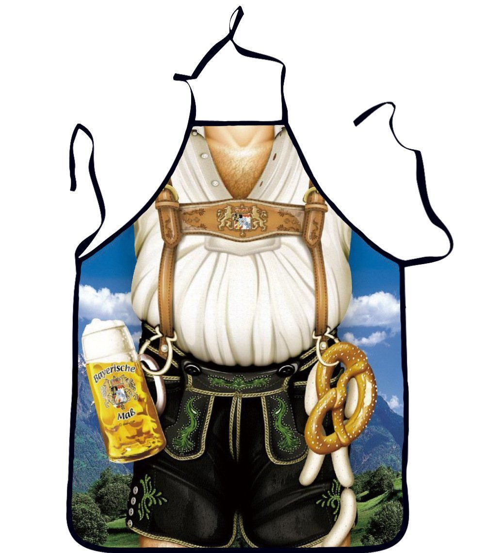 Bilipala Lederhosen Apron Funny Apron Novelty Kitchen Cooking Apron for Man