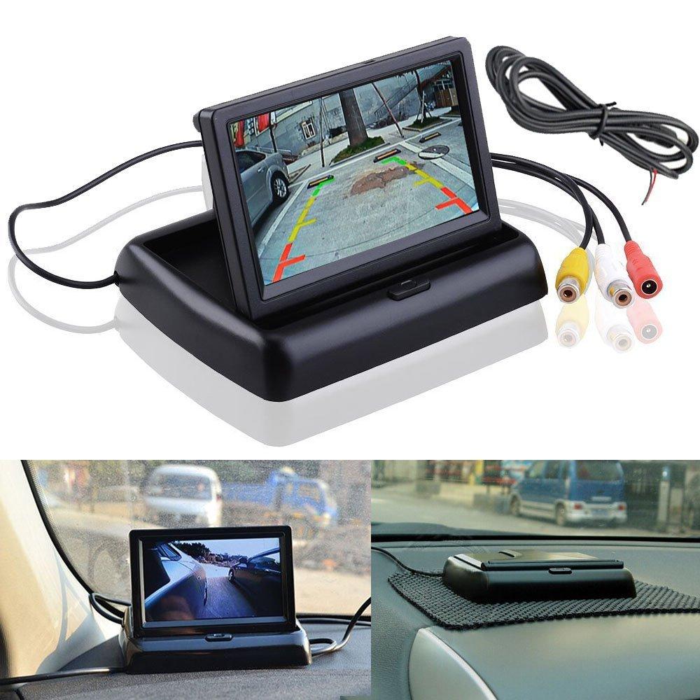 Fold in Dash Rear View Reproductor de video con monitor LCD reversible
