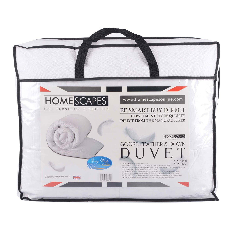 Homescapes warme Luxus Winter Bettdecke, 200 cm x 200 cm, Steppdecke Wärmeklasse 5 - Gänsefedern und Daunen