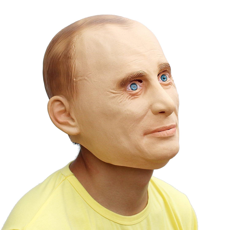 PartyCostume Máscara de Cabeza Humana de Fiesta de Traje Lujo de Halloween de Putin: Amazon.es: Juguetes y juegos