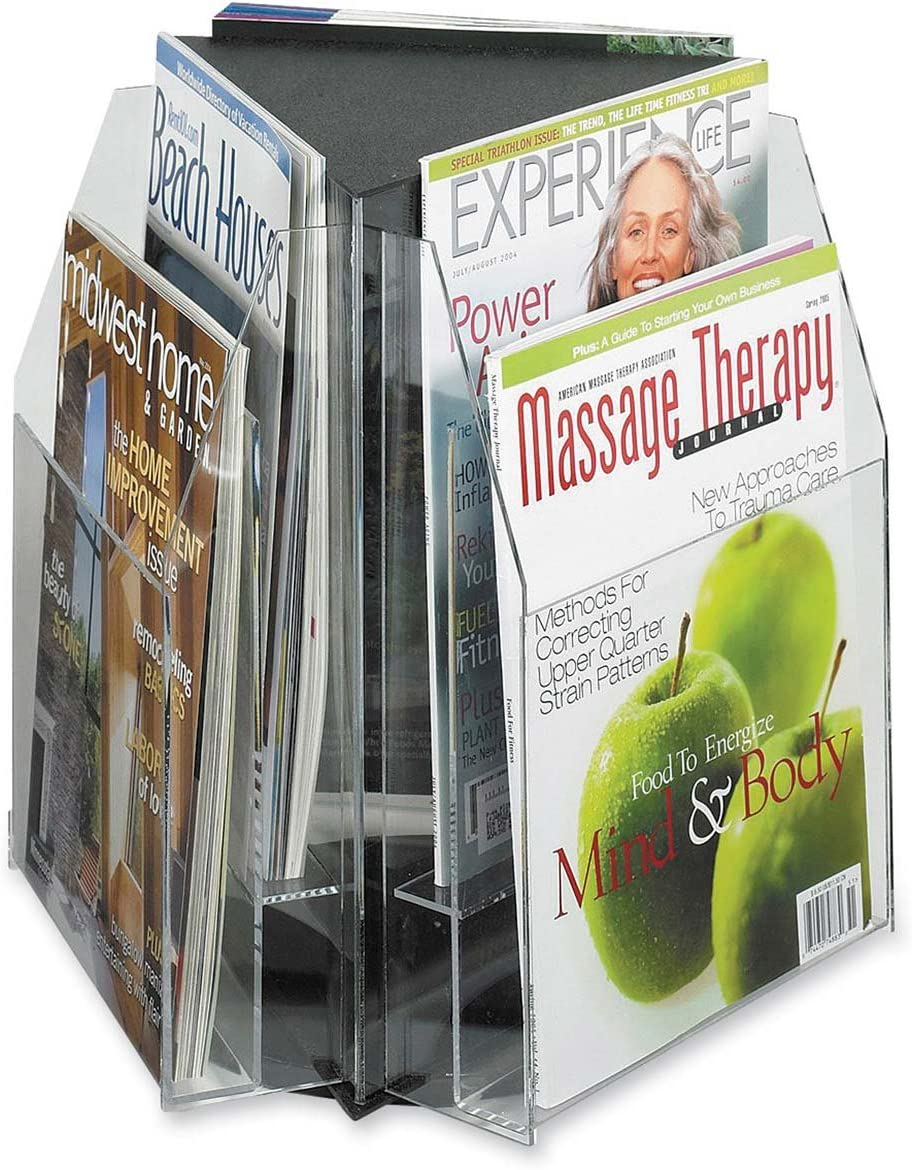 Safco Products 5698CL Reveal Table Top Literature Display, 6 Magazine, Clear