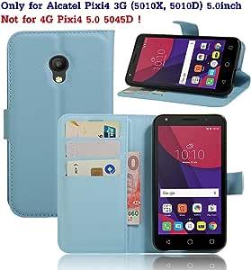 Guran® Funda de Cuero Para Alcatel Pixi 4 (5,0 pulgada) Smartphone ...