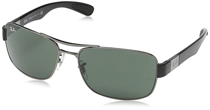 c79cabaccb Amazon.com  Ray-Ban Men s Steel Man Sunglass Rectangular