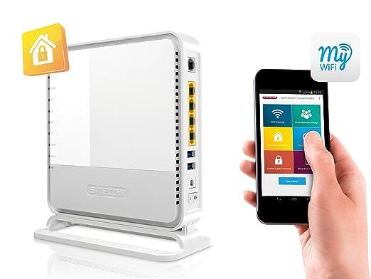 41 opinioni per Sitecom N900 Wi-Fi Duallband Gigabit Modem/Router X6, 2X USB, Sitecom Cloud