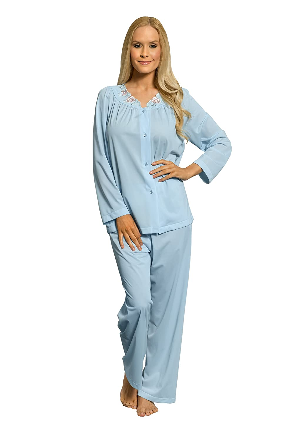 Shadowline Women s Petals Long Sleeve Pajama at Amazon Women s Clothing  store  82c4eff81