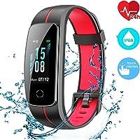 CHEREEKI Fitness Tracker, Cardiofrequenzimetro Smartwatch Controllo Musica, Schermo a Colori Impermeabile IP68, 14 modalità di Allenamento, Cronometro Touch Screen Orologio Braccialetto