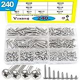 100 pcs//Pack 410 Stainless Steel, 3CLifewaren M4.2//4.8 Self Tapping Stainless Steel Metal Screws Phillips Pan Head Self Drilling Screws