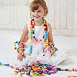 Pop Beads Set Girl Toy - Wishtime Creative DIY Jewelry Making Kit for Necklace and Bracelet Gift for Girls Art Crafts Snap Beads Toy(85 Pieces)