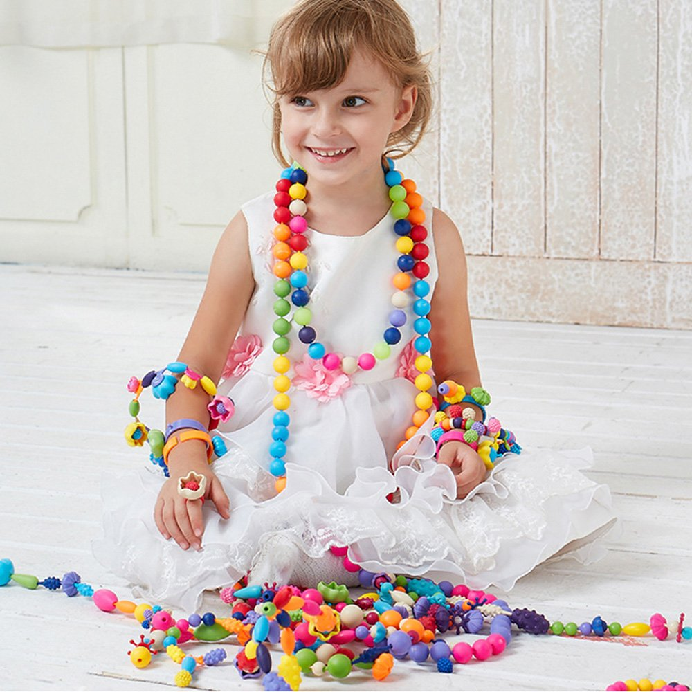 Pop beads set girl toy wishtime creative diy jewelry for Arts and crafts toys for 4 year olds