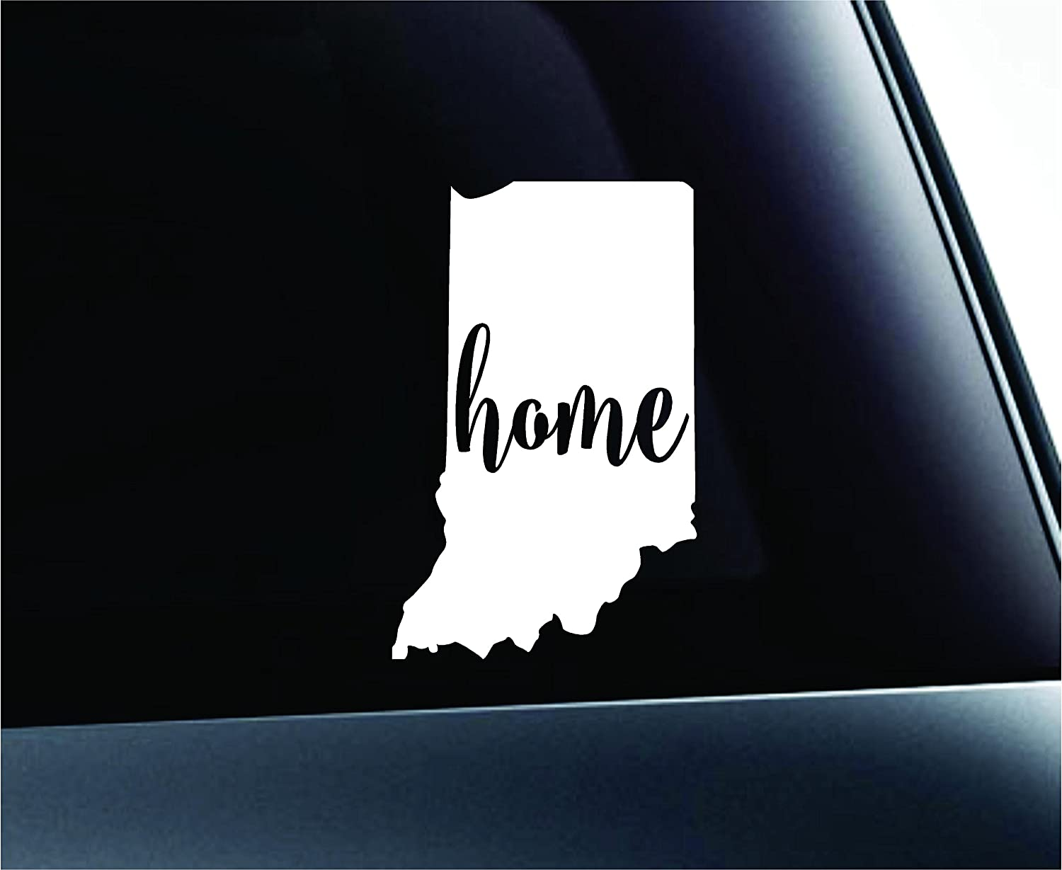 Amazon com 3 home indiana state indianapolis symbol sticker decal car truck window computer laptop lime green automotive