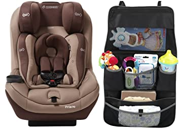 Maxi Cosi Pria 70 With Tiny Fit Convertible Car Seat And Backseat Organizer Walnut
