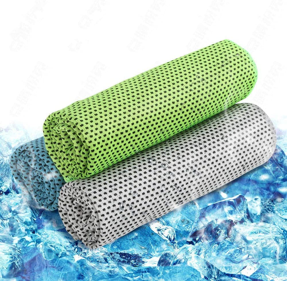 Emoly Cooling Towel 3 Pack, Cooling Towels for Sports, Fitness, Yoga, Pilates, Gym, Golf, Hiking, Biking and More, 40 X 12 Inch