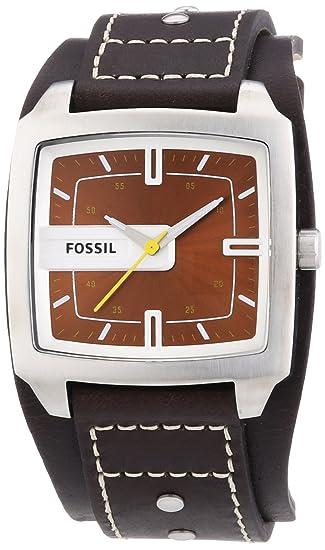 Fossil JR9990 - Reloj analógico de cuarzo para hombre con correa de piel, color marrón: Fossil: Amazon.es: Relojes