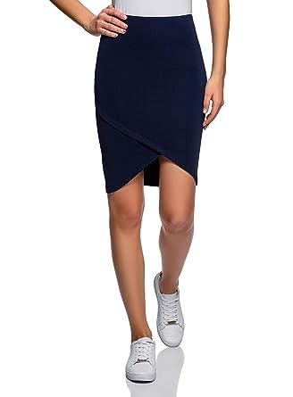 aa3f14738 oodji Ultra Women's Jersey Skirt with Asymmetric Hem at Amazon ...