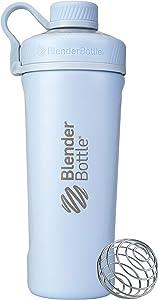 BlenderBottle Radian Insulated Stainless Steel Shaker Bottle, 26- Ounce, Arctic Blue