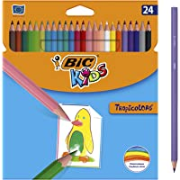 BIC TROPICOLORS, Caja con 24 Lápices de Colores