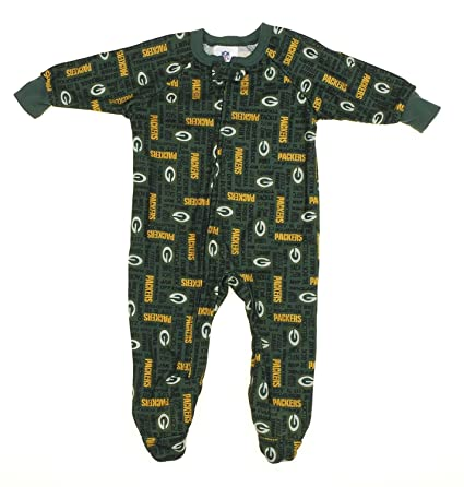 bfb6a97a25e5 Amazon.com  Green Bay Packers NFL Newborn and Toddler Fleece Sleeper ...