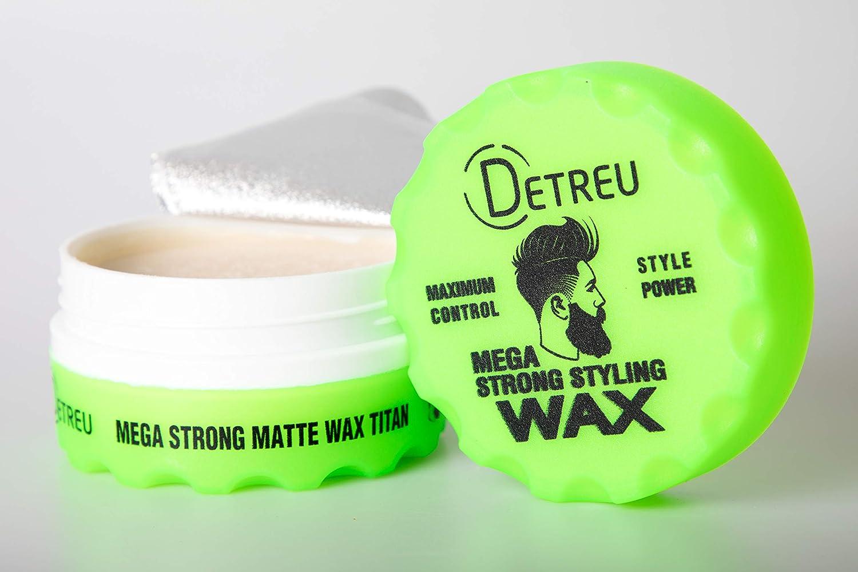 DETREU Mega Strong Matte Wax Titan 140ml Asya Cosmetics