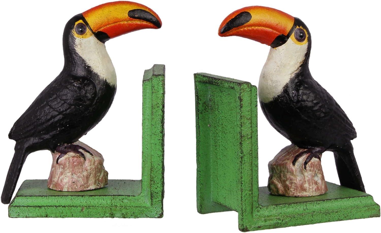 Nostalgic Bookends Toucan Toucan Parrot Gift Idea Cast Iron