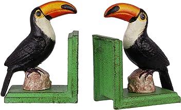 Decorative Book Ends Set of 2Nostalgia Toucan Bird 14.9cm Bookends
