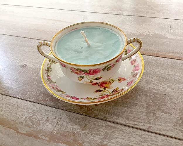 Amazon.com: Teacup Candle - Vintage Haviland China with Floral ...