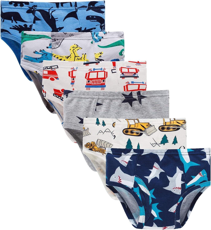 Boboking Little Boys Boxer Briefs Dinosaur Truck Toddler Kids Underwear