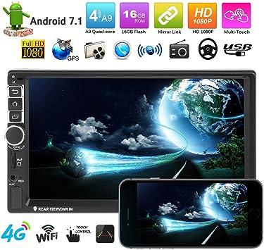 VODOOL 7 Pulgadas Pantalla táctil 2Din Android Bluetooth Coche MP5 Reproductor GPS Navegador: Amazon.es: Electrónica