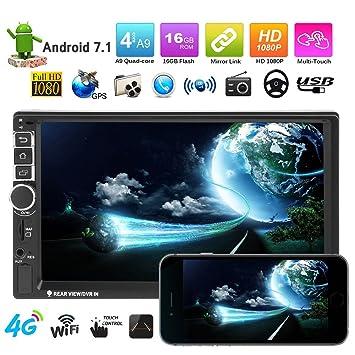 VODOOL 7 Pulgadas Pantalla táctil 2Din Android Bluetooth Coche MP5 Reproductor GPS Navegador