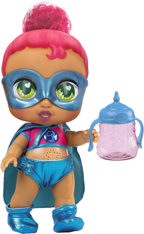 Super Cute - Muñecas para niñas Super Cute Muñeca Interactiva superheroína Kala con biberón mágico y Accesorios Muñecas Niñas 3 años Muñecas bebé recién nacido para niños niñas