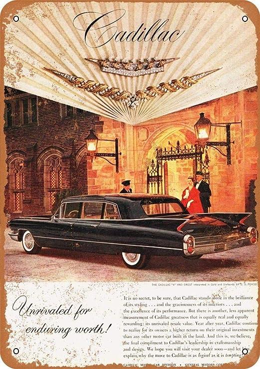 Yohoba 1960 Cadillac Fleetwood Leousine - Señales de Metal (30,5 x ...