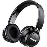Mpow Thor Bluetooth Headset, Dual 40mm Driver Foldable Over-head Wireless Bluetooth Stereo Headphones Headset PC with Soft Protein Ear Pads, Mic and Detachable Cord [Wireless and Wired] – Black