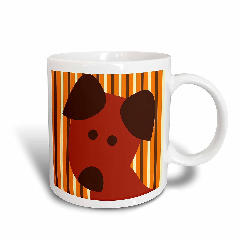 Multicolor Pets 11 oz Animal Art Ceramic Mug 3dRose mug/_63505/_1Cute Dog Face