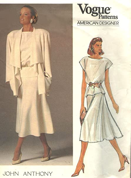 Amazon Vogue Vintage Sewing Pattern 1387 John Anthony Daytime