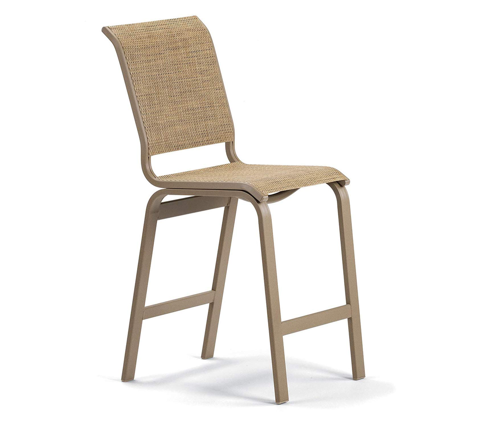 Wood & Style Patio Outdoor Garden Premium Sling Collection Balcony Height Armless Chair, Alloy, Textured Graphite Finish