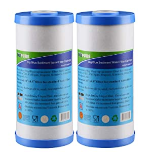 Icepure Big Blue SedimentandActivated Carbon Water Filter Compatible with FXHTC,GXWH40L,GXWH35F,GNWH38S (10''x4.5'')