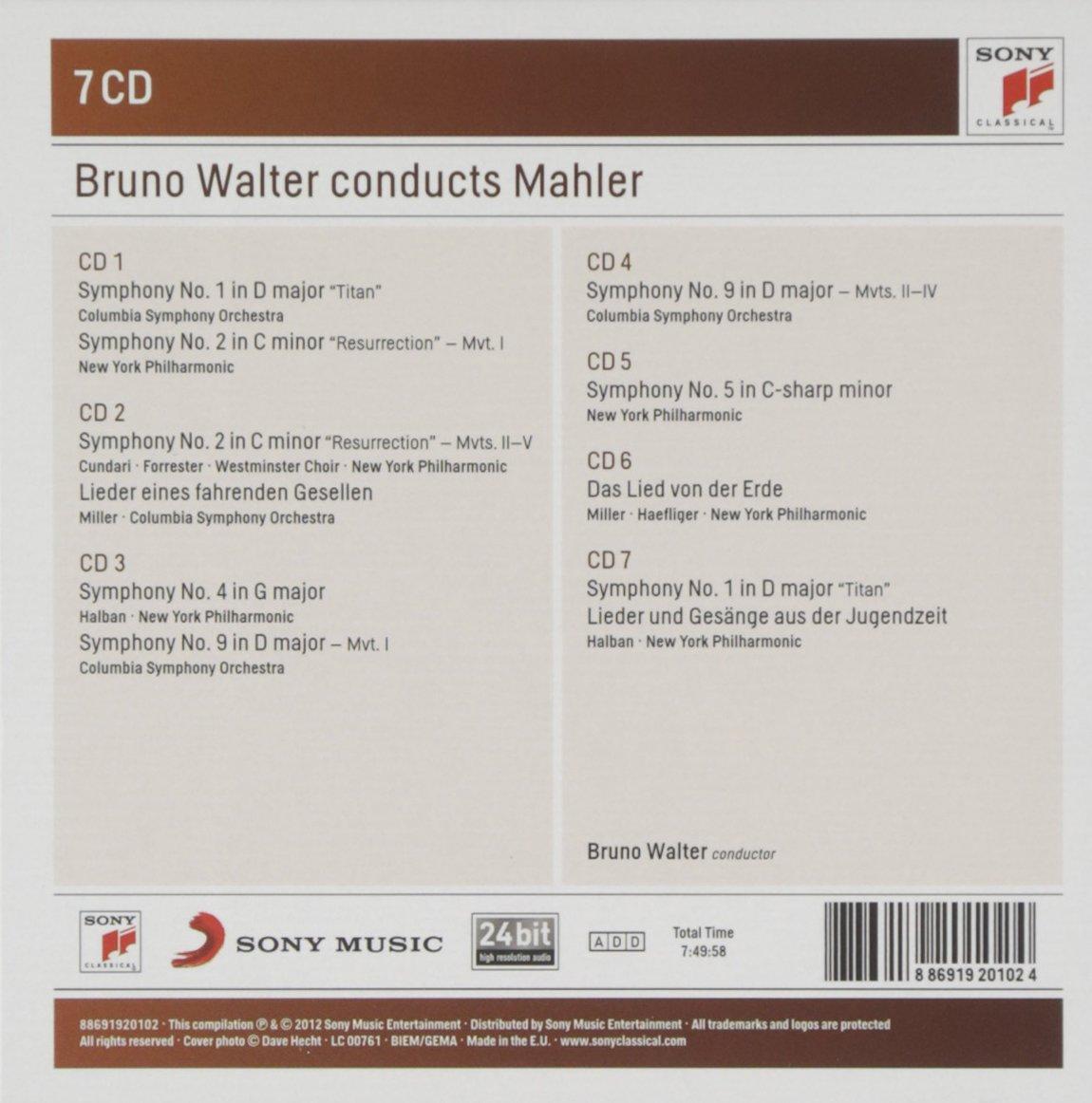 Bruno Walter conducts Mahler - Gustav Mahler, Bruno Walter: Amazon ...