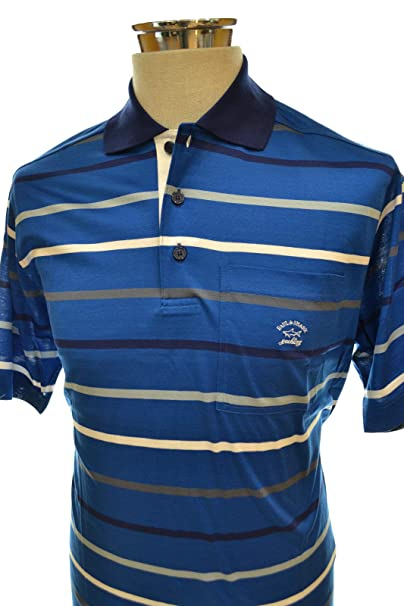 PAUL SHARK YACHTING POLO E11P0160 COL. 420 LIGHT BLU LINES REGULAR ...