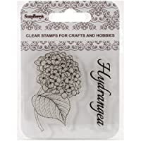 """Scrapberry's Clear Stamps 2.7""""X2.7""""-Hydrangea"""