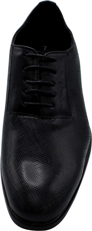 Marco Vitale Mens Cap Toe Lace Up Dress Shoe