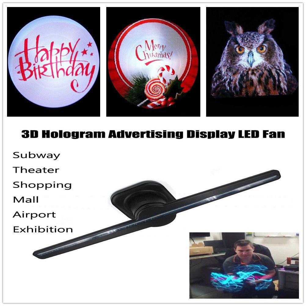 Amazing Naked Eye 3D Hologram Advertising Display LED Fan Holographic Imaging -Great Gift-MOONHOUSE